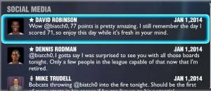 David Robinson & Dennis Rodman Social Media